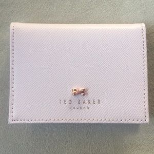 low priced 5a778 c9998 Ted Baker Pink Card Case with Robot Key Chain Boutique